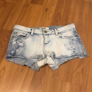 Garage Bleached Jean Shorts